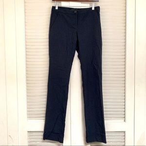 Theory navy pinstripe wool blend trouser pants